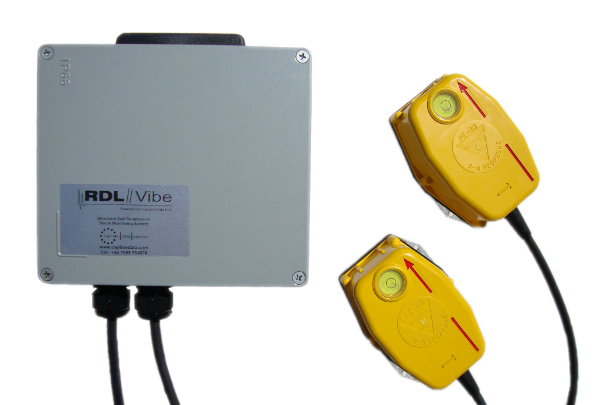 RDLVibe low profile antenna with two Geophone TRANSPARENT SMALL