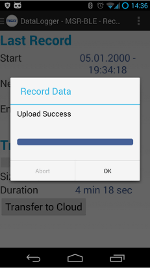 Software Tab - Upload recorded data from the MSR145WD to the MSR Data Logger App