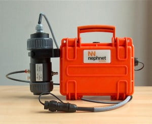Nephnet portable turbidity sensor with remote monitoring capabilities small