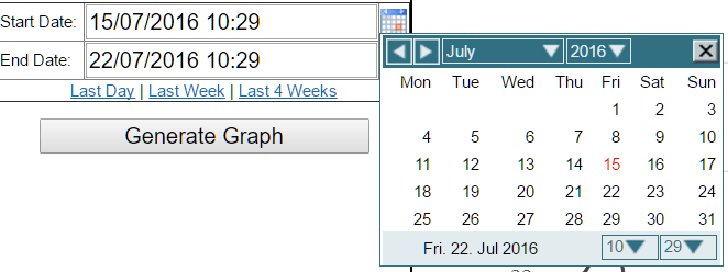 CDL SmartHub date range entry