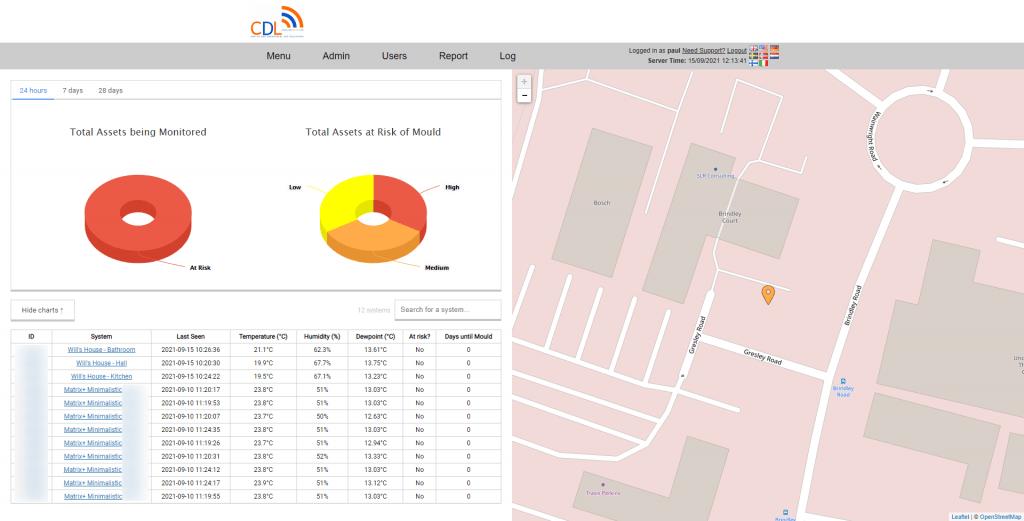 Live Remote Asset Monitoring Social Housing